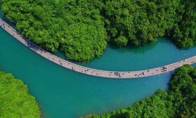 سفر به پل معلق در چين