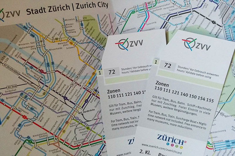 کارت گردشگری زوریخ سوئیس
