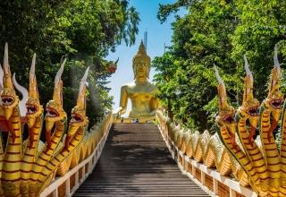 معبد وات فرا یای تایلند و مجسمه بودای بزرگ