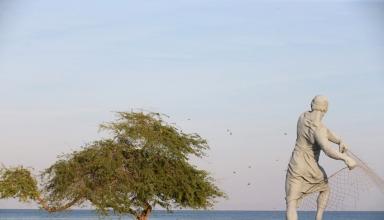 پارک ساحلی مرد ماهیگیر کیش