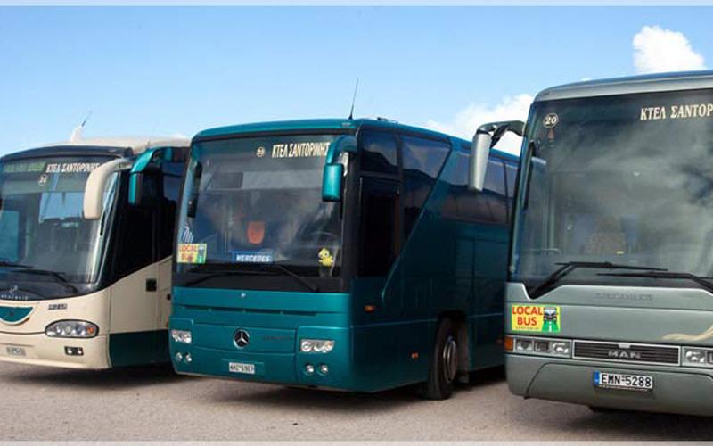 حمل و نقل عمومی سانتورینی یونان