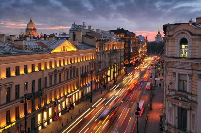 خیابان نوسکی سنت پترزبورگ روسیه